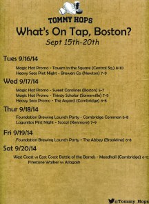 What's On Tap sept 15
