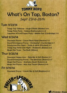What's On Tap sept 23